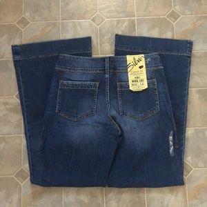Silver RIEL Wideleg Jeans new